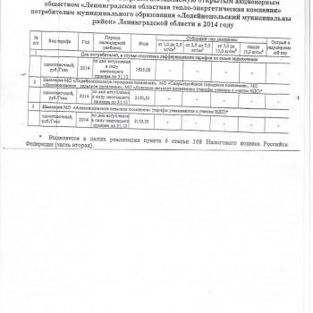 Приложение к Приказу ЛенРТК №117-п от 03.10.2014г. на 2014г.